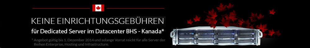 Kanada Server ohne Setupkosten