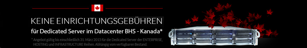 Aktion Dedicated Server Kanada